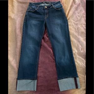Kensie Tomboy Straight Crop Jeans